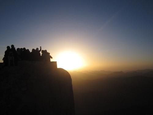amanecer en el Monte Sinaí (2.285 m)